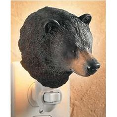 Black Bear Night Light – NATURE'S WINDOW  Quality home decor products that appeal to pet, outdoor, and wildlife enthusiasts. #homedecor #pets #outdoors #wildlife #bears #blackbear
