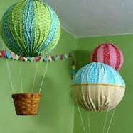 make hot air balloon decorations - Bing Images