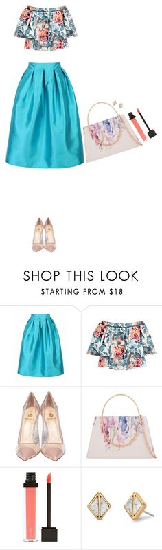 """""""Peach & Beach"""" by heba-j ❤ liked on Polyvore featuring Elizabeth and James, Semilla, Ted Baker, Jouer and Stella & Dot"""