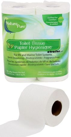 Don't let a clogged septic system ruin your RV or boat trip. This septic-safe, quick-dissolving toilet paper is made from recycled fibers. Quilted for comfort, 2-ply for strength, and fragrance-free.