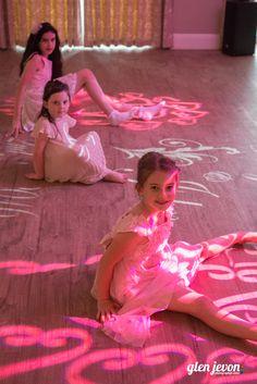 Children fascinated by wedding lighting at the Beaulieu Hotel - DJ Martin Lake