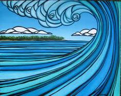 I love Heather Brown's work. I have a print in my dorm room from my Hawaii trip.