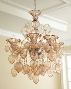"""Blush"" Chandelier at Horchow.  $1,695.  A friend has this beauty in purple.  Love it in purple best."