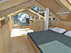 дача современная студия Small Tiny House, Micro House, Mountain Home Exterior, Affordable House Plans, Chalet Interior, Compact House, Contemporary Cottage, Prefab Homes, Home Design Plans