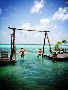 Swinging by the sea!