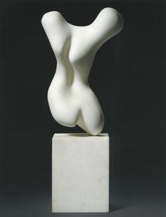 reichsstadt: Torse, Hans Arp, 1960. Marble.