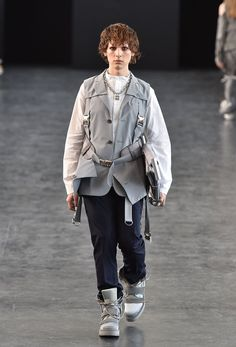 Pin for Later: 14 Reasons Hari Nef Is About to Become the Next Top Model Hari Made Her Catwalk Debut During Spring '15 Fashion Week Here she is walking in Hood by Air.