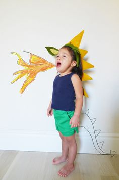 We've got a request to be a dragon this year, a head band could solve the dragon head problem!