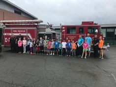 radKids touring the fire truck