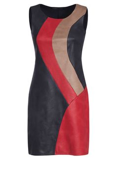 Robe suédine serpent découpe demi-cercle - Framboise African Print Fashion, African Fashion Dresses, African Dress, Fashion Outfits, Womens Fashion, Stylish Dresses, Simple Dresses, Cute Dresses, Casual Dresses