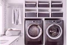 Best Tips To Upgrade Your Laundry Room Design 49 Small Laundry Rooms, Laundry Room Design, Laundry Area, Retractable Door, Creative Closets, Home Library Design, Home Libraries, Diy Bathroom Remodel, Closet Designs