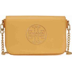 Tory Burch Isabella Clutch - Solarium ($280) ❤ liked on Polyvore featuring bags, handbags, clutches, tory burch, brown purse, leather handbags, real leather handbags and brown leather handbags