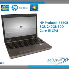 Powerful HP ProBook Laptop Core i5 CPU - 8GB DDR3 - 240GB SSD - Windows 7 in Computers/Tablets & Networking, Laptops & Netbooks, PC Laptops & Netbooks | eBay