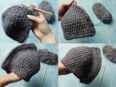 DIY-Anleitung: Ritterhelm häkeln via DaWanda.com Crochet Kids Hats, Crochet For Boys, Crochet Clothes, Knitted Hats, Crochet Amigurumi, Crochet Beanie, Knit Crochet, Knitting Designs, Knitting Patterns