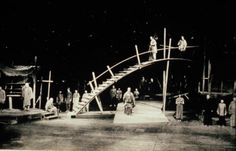 Original set, Brecht's THE GOOD SOUL OF SZECHWAN >> what's interesting about this is the design of the bridge.