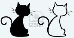 Zwarte kat silhouet Stockfoto - 14331459