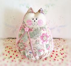 Home Decor Cat Doll 6  Free Standing Kitty Soft by CharlotteStyle