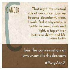 Praying for those with cancer. #PrayAtoZ
