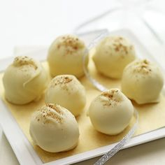 Eggnog-Truffles  Not a cookie, but these are a great addition to a cookie tray.