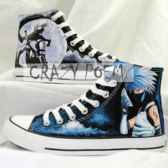 Unisex High Quality Naruto Kakashi Hand Painted Shoes by CrazyPoem, $64.99