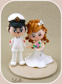 *SORRY, no information as to product used ~ fimo wedding cake topper