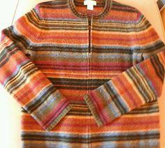 Jones New York wool colorful strip sweater large