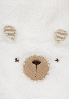 F&F Polar Bear Fleece Pramsuit | Newborn | F&F