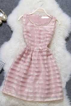 Sweet striped dress MG818EE