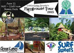 Little Lake County Summer 2015 Playground Tour, kicking off at Bowen Park - Waukegan   #playgroundtour #waukegan #LLCPlays