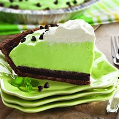Mint Pie for St. Patty's Day
