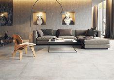 Colectia de placi ceramice Montego de la Cerrad Outdoor Porcelain Tile, Outdoor Tiles, Mandarin Stone, Large Format Tile, Grey Tiles, Sofa, Couch, Indoor, Flooring