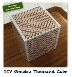 Montessori Mathematics Golden Thousand Cube printable.plus site has lots of other free printables Montessori Homeschool, Montessori Elementary, Montessori Classroom, Montessori Activities, Dinosaur Activities, Teaching Geography, Teaching Math, Teaching Reading, Math Crafts
