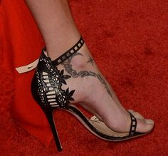 Adriana Lima Oozes Sex Appeal in Marchesa 'Margaret' Sandals
