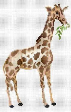 Giraffe Cross Stitch Pattern 0049   bluemorningexpressions - Needlecraft on ArtFire