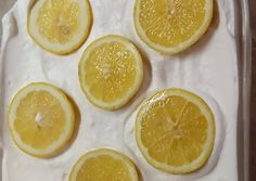 Lemon Cheesecake Recipes, Cheesecake Toppings, Cheesecake Bars, Candied Lemon Slices, Candied Lemons, Fun Desserts, Dessert Recipes, Homemade Candies, Appetizer Recipes