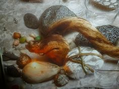un mondo di ricette: decorazioni tavola natalizia - sassi di fiume e di...