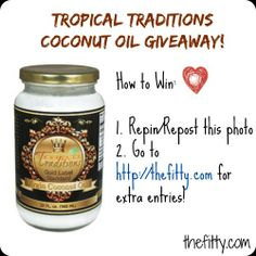 Tropical Traditions Coconut Oil Review and Giveaway!