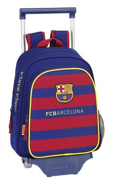 FC Barcelona Binder to Rollers FCB Trolley M Bag Back 13 Maternal 229895 for sale online Fc Barcelona, School Bags, Binder, Hiking, Backpacks, Patterns, Best Deals, Accessories, Ebay