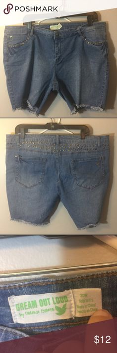 #327 jean shorts EUC Jean shorts with flat metal accents on the back and around the front pockets Dream Out Loud by Selena Gomez Shorts Jean Shorts