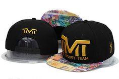 2014 High Quality TMT Black Brim Snapbacks Wholesale The Money Team  Adjustable Cotton baseball snapback cap Free Shipping 735fbac7798