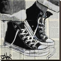 Never a Frown Stretched Canvas Print by Loui Jover at eu.art.com