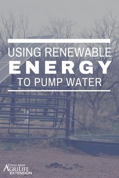 Looking for ways to use renewable energy when you pump water? This publication can answer many of your questions as wells as provide insight on all the different alternatives.  Read more by clicking on the link below!