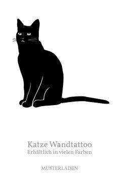 Wandtattoo Katze sitzend, ein schönes Geschenk für Katzenfreunde, dieses und noch viele andere Tiermotive gibts im Shop. Wall Murals, Celestial, Outdoor, Animal Themes, Cats, To Draw, Flowers, Animales, Nice Asses