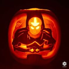 Aang in Avatar state!   31 Jack-O'-Lantern Ideas That'll Put Your Neighbors To Shame