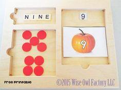Montessori Inspired Halloween Free Printable