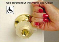 GREAT GRIPS ARTHRITIS AID - DOOR KNOB/FAUCET GRIPS! (10 PACK) CLEAR
