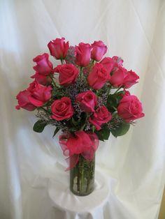Enchanted Florist Pasadena - Hot Pink Roses for Valentines Day - 2 Dozen, $219.95 (http://www.enchantedfloristpasadena.com/two-dozen-hot-pink-roses-for-valentines-day-delivery-pasadena-deer-park)