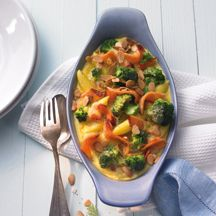 Zalmovenschotel met broccoli
