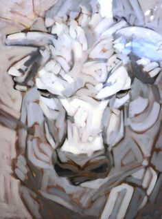 Whiteout '86 White Bull painting by Neumann