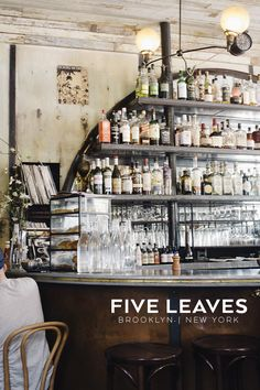 Five Leaves in Brooklyn, New York